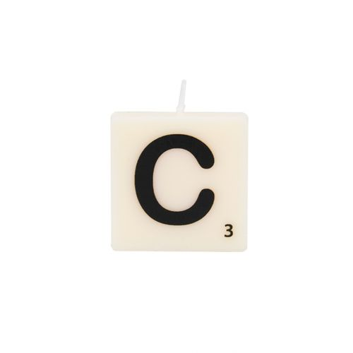 The Gift Label-letter and number candle-C-web packshot.jpg